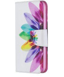 Nokia 4.2 Portemonnee Hoesje met Bloem Print