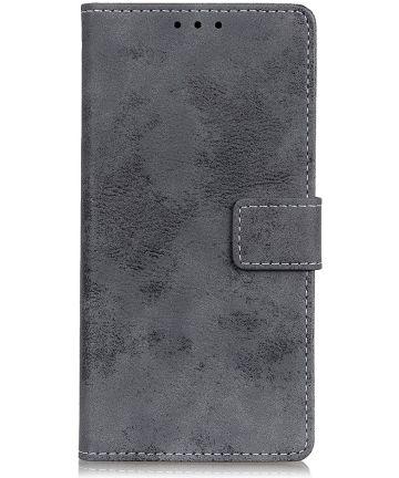 Nokia 4.2 Vintage Portemonnee Hoesje Grijs Hoesjes