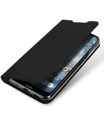 Dux Ducis Nokia 4.2 Bookcase Hoesje Zwart Hoesjes