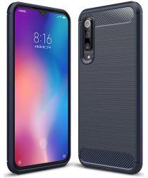Xiaomi Mi 9 SE Geborsteld TPU Hoesje Blauw