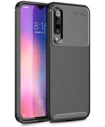 Xiaomi Mi 9 SE Siliconen Carbon Hoesje Zwart