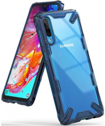 Ringke Fusion X Samsung Galaxy A70 Hoesje Blauw Hoesjes