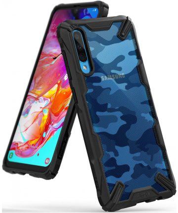 Ringke Fusion X Samsung Galaxy A70 Hoesje Camo Zwart Hoesjes