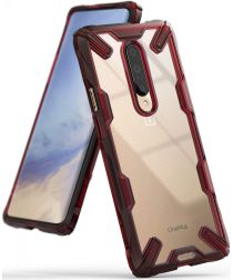 Ringke Fusion X OnePlus 7 Back Cover Hoesje Rood