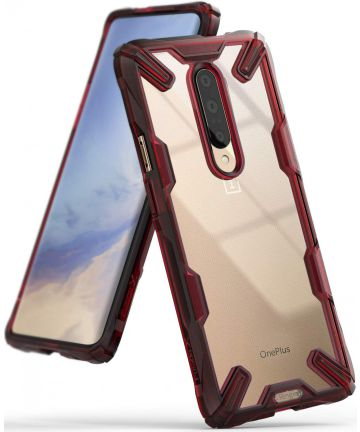 Ringke Fusion X OnePlus 7 Back Cover Hoesje Rood Hoesjes