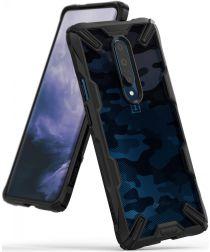 Ringke Fusion X OnePlus 7 Pro Back Cover Hoesje Camo Zwart