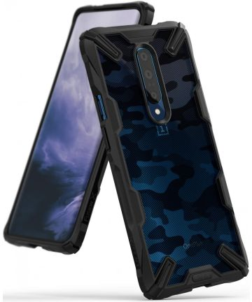 Ringke Fusion X OnePlus 7 Pro Back Cover Hoesje Camo Zwart Hoesjes