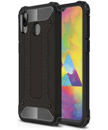 Samsung Galaxy M20 Power Hybride Hoesje Zwart Hoesjes