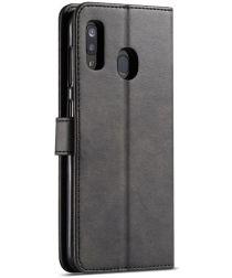 Samsung Galaxy A40 Stand Portemonnee Bookcase Hoesje Zwart