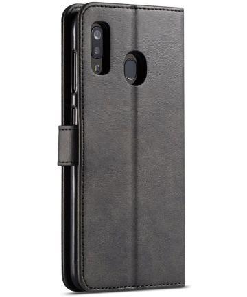 Samsung Galaxy A40 Stand Portemonnee Bookcase Hoesje Zwart Hoesjes