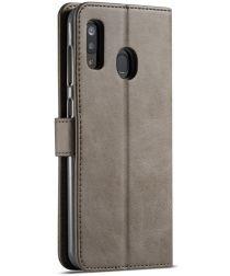 Samsung Galaxy A40 Stand Portemonnee Bookcase Hoesje Grijs