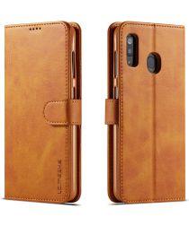 Samsung Galaxy A40 Stand Portemonnee Bookcase Hoesje Bruin