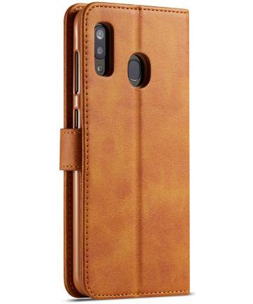 Samsung Galaxy A40 Stand Portemonnee Bookcase Hoesje Bruin Hoesjes