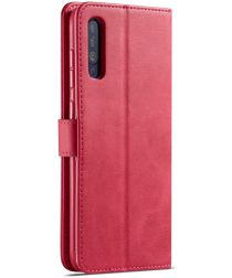Samsung Galaxy A70 Stand Portemonnee Bookcase Hoesje Rood