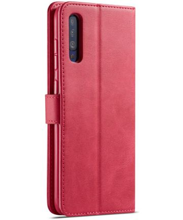 Samsung Galaxy A70 Stand Portemonnee Bookcase Hoesje Rood Hoesjes