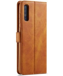 Samsung Galaxy A70 Stand Portemonnee Bookcase Hoesje Bruin