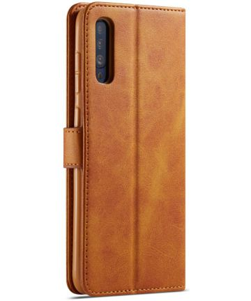 Samsung Galaxy A70 Stand Portemonnee Bookcase Hoesje Bruin Hoesjes