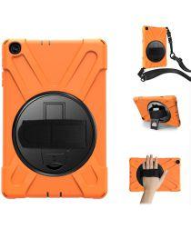 Samsung Galaxy Tab A 10.1 (2019) Hybride Kickstand Hoesje Oranje