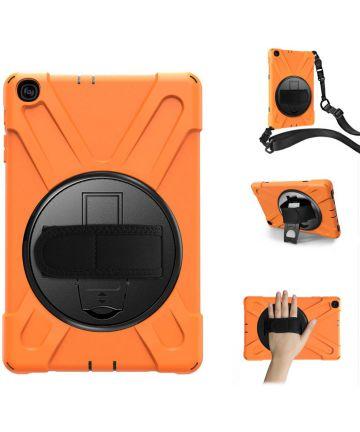 Samsung Galaxy Tab A 10.1 (2019) Hybride Kickstand Hoesje Oranje Hoesjes