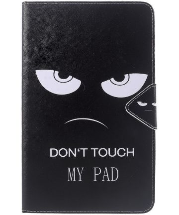 Samsung Galaxy Tab A 10.1 (2016) Portemonnee Hoesje Don't Touch Print