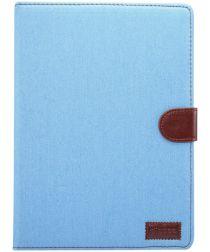Apple iPad 2017 / 2018 / Air / Air 2 Jeans Portemonnee Hoesje Blauw
