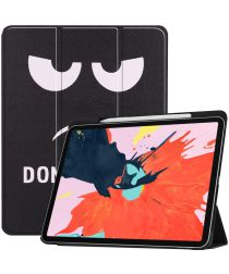 Apple iPad Pro 12.9 (2018) Hoesje met Don't Touch Print