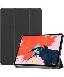 Apple iPad Pro 12.9 (2018) Tri-Fold Flip Case Zwart