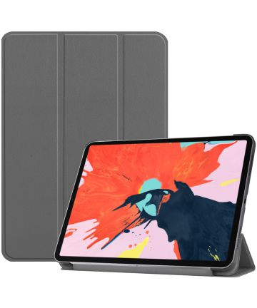 Apple iPad Pro 12.9 (2018) Tri-Fold Flip Case Grijs Hoesjes