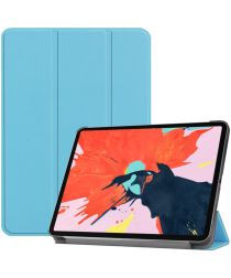 Apple iPad Pro 12.9 (2018) Tri-Fold Flip Case Blauw