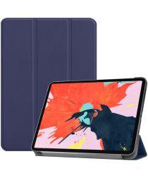 Apple iPad Pro 12.9 (2018) Tri-Fold Flip Case Donker Blauw