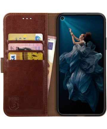 Rosso Element Honor 20 Pro Hoesje Book Cover Bruin Hoesjes