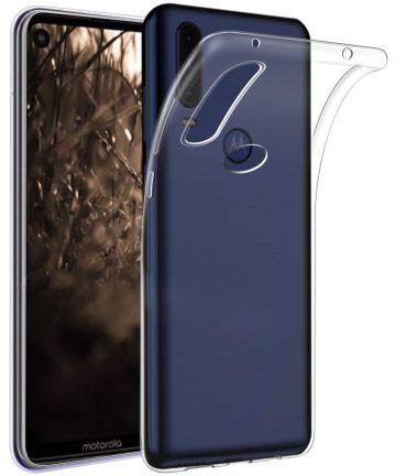 Motorola One Vision Hoesje Dun TPU Transparant Hoesjes