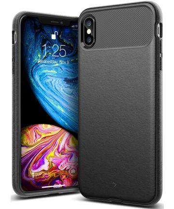 Caseology Vault Apple iPhone XS Max Hoesje Zwart Hoesjes