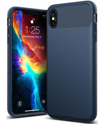 Caseology Vault Apple iPhone XS Max Hoesje Blauw Hoesjes