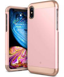Caseology Savoy Apple iPhone XS / X Hoesje Roze Goud