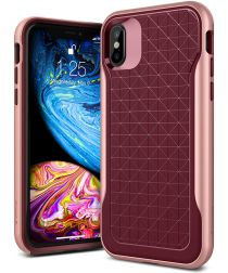 Caseology Apex Apple iPhone XS / X Hoesje Burgundy