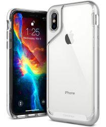 Caseology Skyfall Apple iPhone XS / X Hoesje Transparant/Zilver