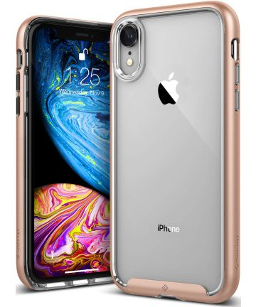 Caseology Skyfall Apple iPhone XR Hoesje Transparant/Roze Goud
