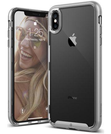 Caseology Skyfall Apple iPhone XS Max Hoesje Transparant/Zilver Hoesjes