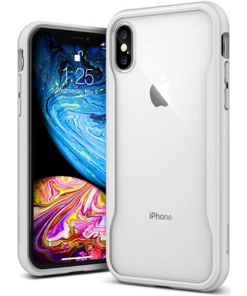 Caseology Coastline Apple iPhone XS / X Hoesje Transparant/Wit Hoesjes
