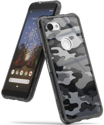 Ringke Fusion Google Pixel 3a Hoesje Camo Zwart Hoesjes