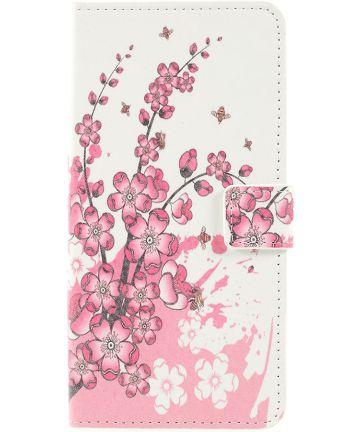 Samsung Galaxy A50 Book Case Hoesje Wallet Kunstleer Print Bloesem Hoesjes