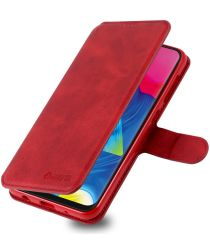 AZNS Samsung Galaxy M10 Portemonnee Stand Hoesje Rood