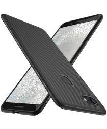 Google Pixel 3A XL Twill Slim Texture Back Cover Zwart