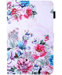 Samsung Galaxy Tab A 10.1 (2019) Portemonnee Hoesje Bloemen Print