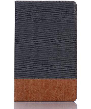 Samsung Galaxy Tab A 10.1 (2019) Linnen Portemonnee Hoesje Zwart Hoesjes
