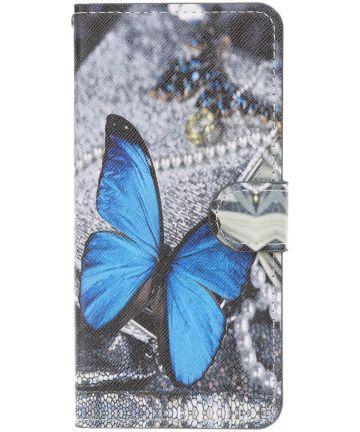 Samsung Galaxy A50 Book Case Hoesje Wallet met Print Butterfly Hoesjes