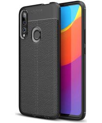 Huawei P Smart Z Hoesje TPU Met Lederen Textuur Zwart