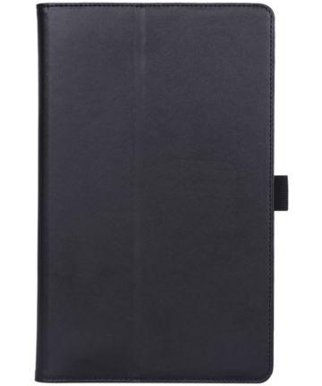 Samsung Galaxy Tab A 10.1 (2019) Portemonnee Hoesje met Strap Zwart Hoesjes