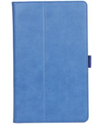 Samsung Galaxy Tab A 10.1 (2019) Portemonnee Hoesje met Strap Blauw Hoesjes
